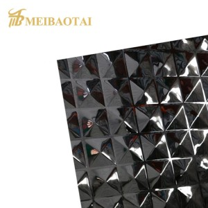 Diamond Design Stamped Sheet PVD Black Golden High Quality Luxury Wall Decoration Sheet 0.55mm Thickness 201 Stainless Steel Sheet