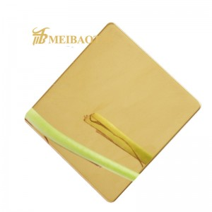 PVD Gold Green Bronze Blue Mirror Polish Design Decoration Plate 201 Stainless Steel Plate 1219*2438mm 0.65mm