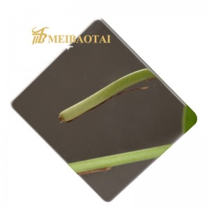 Grade 201 304 Mirror Colour Cold Rolled Stainless Steel Sheet