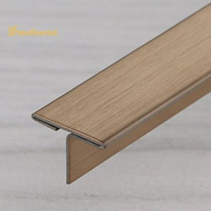 SS Trim PVD Golden Rose Black Color Coating Stainless Steel Strip Metal Angle Wall Tile Profile Trim for Furniture