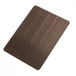 PVD Antique Bronze Decoration Sheet Four Feet 0.65mm Grade 201 Stainless Steel Sheet for Luxury Wall Decoration Plate