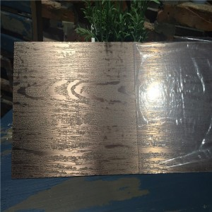 3d wooden embossed stainless steel punched metal sheet