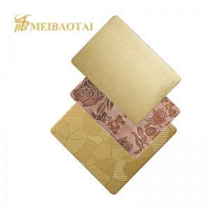 Color Stainless Steel Sheet Embossed for Home Decoration