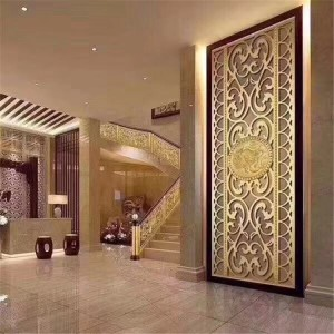 Stainless Steel Decorative Partition color stainless steel plate for hotel decorative