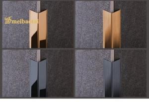 Polish Matt Finish Design SS L Profiles Decoration Corner Tile 304 Stainless Steel L Shape
