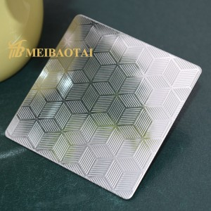 Grade 304 Cold Rolled Embossed Stainless Steel Sheet