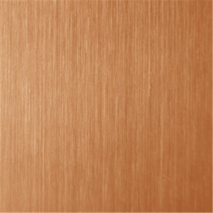 hairline stainless steel red bronze sheet