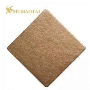 Grade 201 316L Golden Virbration Stainless Steel Sheet