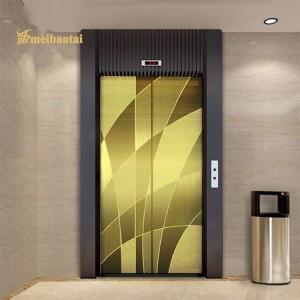 PVD Golden Color Coating Elevator Lift Decorative Plate