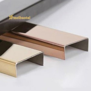 Metal SS U Tile Trim 304 Stainless Steel U Profiles