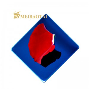 201 304  316L Mirror 8K Polished Brushed Finished Gold, Black, Blue, Silver Stainless Steel Plate /Sheet
