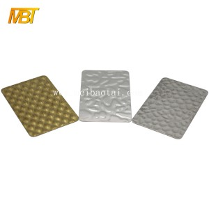 201 embossed stainless steel sheet for wall panels