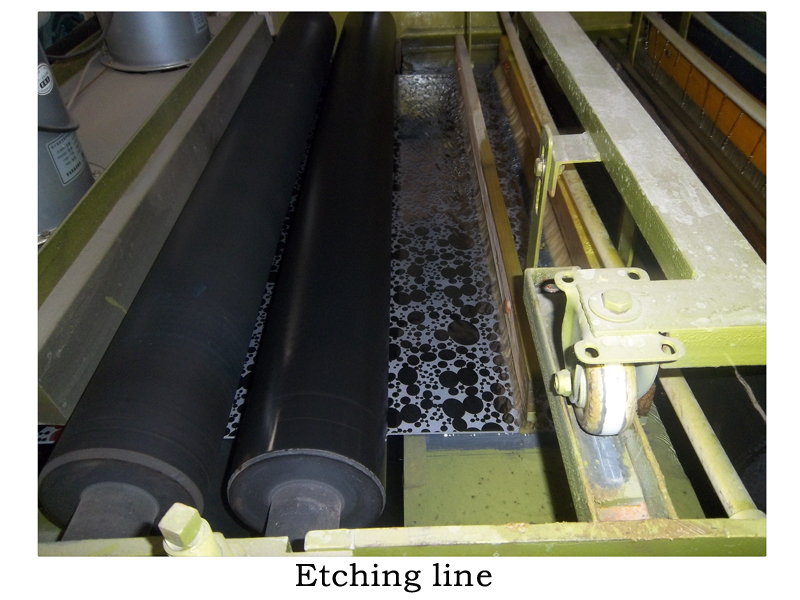 Etching line