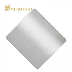 Grade 304 PVD Coating Gold Hairline Stainless Steel Sheet