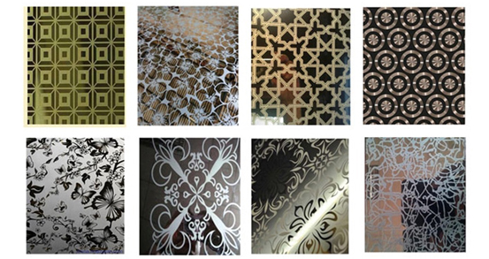 What conditions affect the etching accuracy of color stainless steel plates