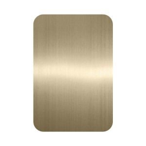 PVD Chamage Rose Black Color Coating Hairline Anti fingerprint Design Finish Decorative Plate 201 Stainless Steel Sheet for Wall Elevator Lift