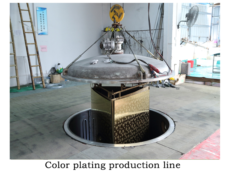 Color plating production line