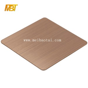 hot sell hairline mirror color pvd color coating stainless steel sheet decorative plate