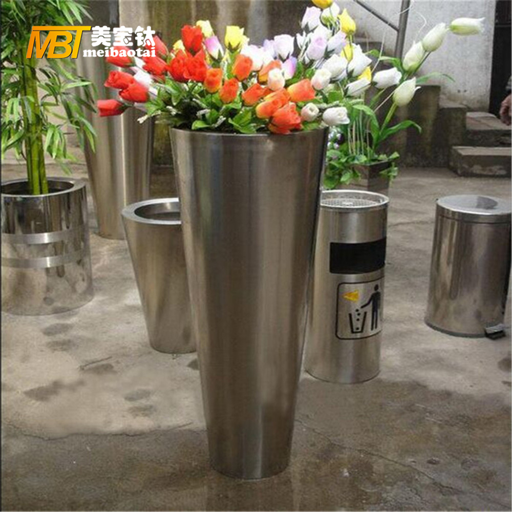 stainless steel sheet metal fabrication flower pot Featured Image