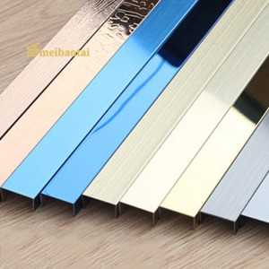U CHANNEL DECORATION TILE 8MM WEIGHT 15MM WEIGHT 0.65MM THICKNESS GRADE 304 STAINLESS STEEL CHANNEL FOR CONENER DECORATION
