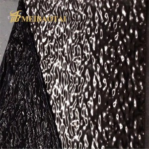 high quality black mirror stamp water ripple stainless steel sheet