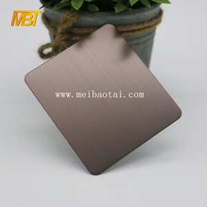 luxurious hairline bronze SS sheet for decorative steel sheet