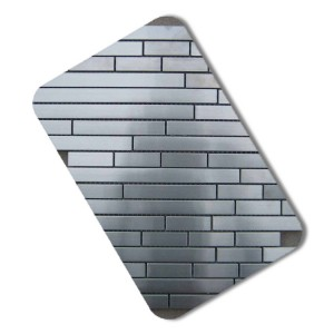 Stainless steel mosaic for TV Backgroud decorative stainless steel sheet