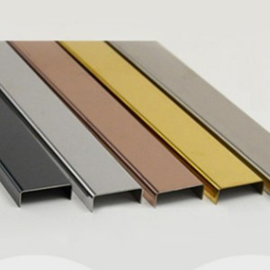 Cold formed 304 Grade Stainless Steel U Channel decorative sheet metal panels