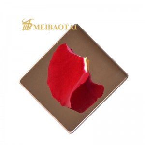 Grade 201 304 Color Mirror Finished Stainless Steel Sheet for Decoration