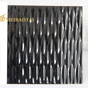 Black mirror stamp chemical coating/PVD color  coating stainless steel sheet