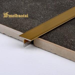 PVD Golden Rose Silver Color Matt Hairline Finish Design SS Metal T Tile Trim Stainless Steel T Profiles