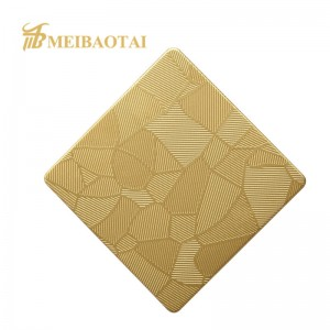 Custom Embossed PVD color coating stainless  steel   plate decorative sheet