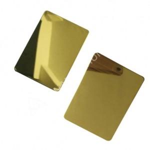 custom grade 304 201 mirror color stainless steel sheet