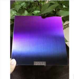 custom hairline pvd color coating  gradient color  stainless steel sheet