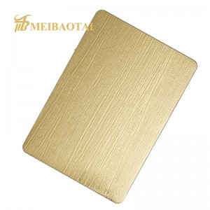Grade 304 201 Embossed Decorative Stainless Steel Shopping Mall Decoration