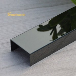 Deecoration U Tile Trim Stainless Steel U Profiles for Foor Tile