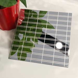 Super Mirror Etching Design Decoration Plate 0.65mm Four Feet 304 Stainless Steel Plate for Wall Decoration