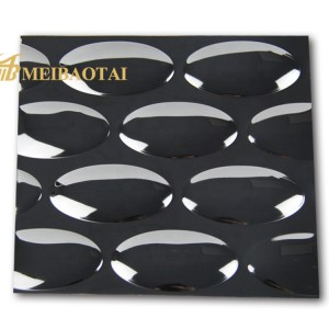 Custom Pattern Grade 201 304 Stamped Stainless Steel Sheet For Wall Panel
