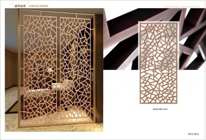 living room partition stainless steel plate