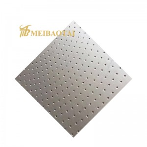 Building Materials Stainless Steel Perforated Metal Sheet Punched Metal Sheet