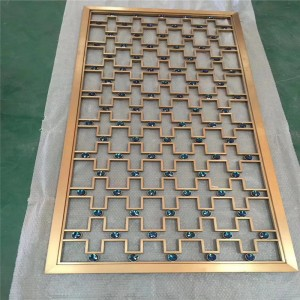 Color Decorative Building Material Stainless Steel Metal Laser Cut Sheet for Wall Panel and Room Divider Partition