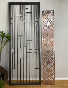 Decorative Metal Stainless Steel Room Divider for Hotel Restaurant