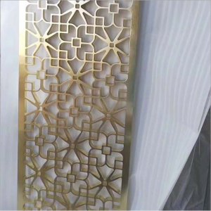 High Quality Luxury Decoration Divider 304 Stainless Steel Material Golden Black Rose Color Coating Decoration Divider Partition for Living Hall