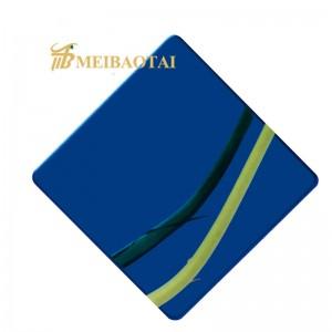 201 304 Gold/Purple/Blue Mirror Stainless Steel Sheet