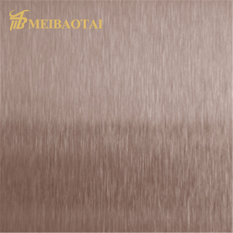 Hot Sales PVD Black Golden Blue Rose Color Coating Four Feet NO.4 Hairline Anti-finger print Design Grade 201 Stainless Steel Sheet for Decoration Wall Sheet Featured Image