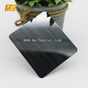 bright hairline black decorative sheet