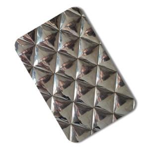 stainless steel sheet 3d wall pannel design
