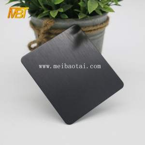NO.4 satin black decorative steel sheet