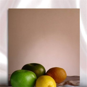 4×8 stainless steel sheet mirror bronze PVD coating