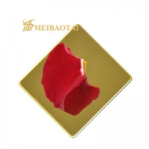 hot sell grade 304  mirror color pvd color coating stainless steel sheet